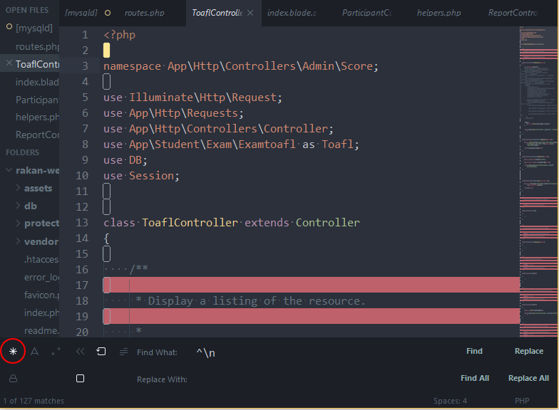 Cara Menghapus Baris Kosong di Sublime Text