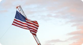 Do you see hope or destruction for the USA? / flag against sky