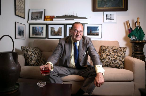 Agostino von Hassell, um historiador militar e presidente da empresa de consultoria The Repton Group, em seu escritório em Manhattan em 4 de setembro de 2014 (Benjamin Chasteen/The Epoch Times)