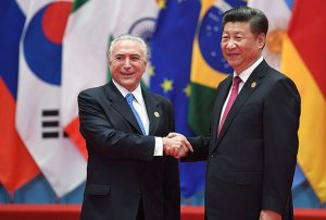 Michel Temer, Presidente do Brasil e, Xi Jinping, líder chinês (GREG BAKER / AFP / Getty Images)