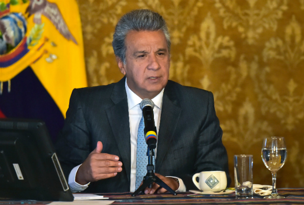 Presidente do Equador, Lenín Moreno (Rodrigo Buendia/AFP/Getty Images)