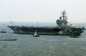 Porta-aviões USS Ronald Reagan (STR/AFP/Getty Images)