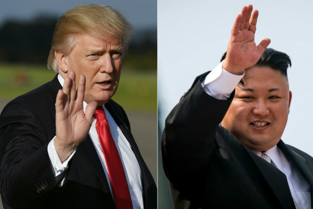 Presidente americano Donald Trump (esq.) e líder norte-coreano Kim Jon-un (dir.) (Mandel Ngan, Ed Jones/AFP/Getty Images)