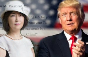 Jennifer Zeng e Donald Trump (Epoch Times)