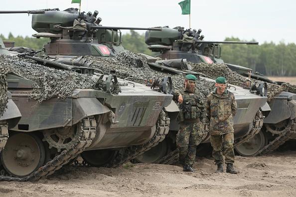 Bundeswehrsoldaten während einer Nato-Militärübung in Polen. Foto: Sean Gallup/Getty Images