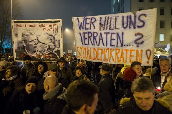 Demonstration gegen die Thüringer Regierung im Dezember 2014 Foto: Jens Schlueter/Getty Images