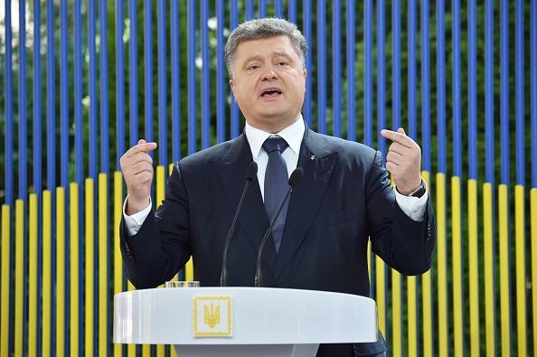 Petro Poroschenko bei einer Rede in Kiew, im Juni 2015 Foto: SERGEI SUPINSKY/Getty Images