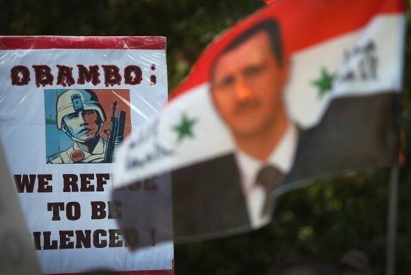 Proteste gegen die militärische Intervention der USA in Syrien. Foto: Scott Olson/Getty Images