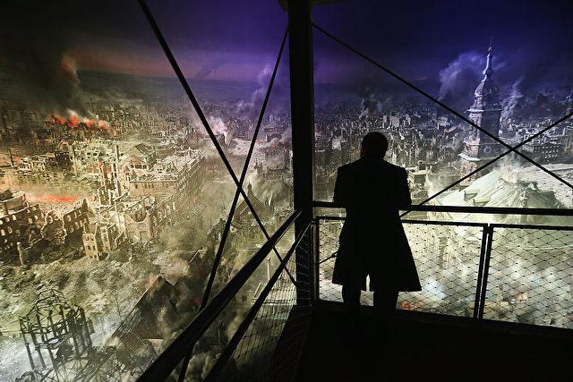 Eine Ausstellung in 2015 über die Dresden-Bombardements am 13 und 14. Februar 1945. Foto: Sean Gallup/Getty Images