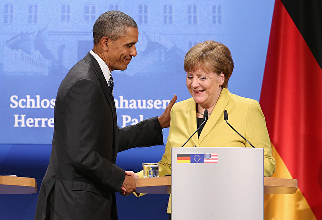 Bundeskanzlerin Angela Merkel and U.S. Präsident Barack Obama Foto: Sean Gallup/Getty Images