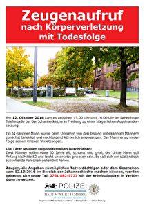 Flugblatt der Polizei Foto: Polizei Freiburg