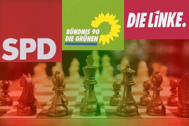SPD, Grüne und Die Linke - Was könnte eine rot-rot-grüne Koalition für Deutschland bedeuten? Ein Planspiel. Foto: epochtimes/ghetty Images
