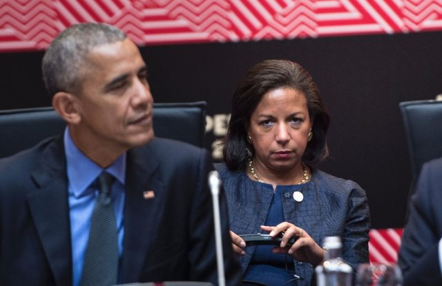Susan Rice und Barack Obama am 19. November beim APEC-Gipfel in Peru. Foto: BRENDAN SMIALOWSKI/AFP/Getty Images