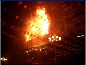 Пожар в ресторане Лайшидэ. Фото: epochtimes.com