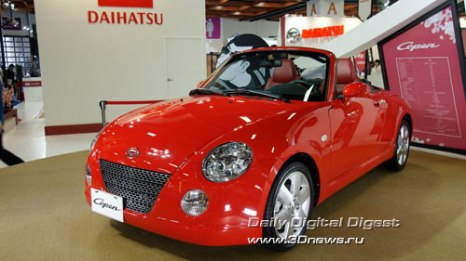 Стенд компании Daihatsu. Нестареющий родстер Copen. Фото: 3dnews.ru