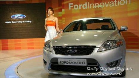 Стенд компании Ford. Ford Mondeo. Некоторые автомобильные издания не без оснований выбрали его автомобилем 2007 года. Фото: 3dnews.ru