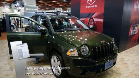 Стенд подразделения «Крайслера» - Jeep. Внедорожник Compass. Фото: 3dnews.ru
