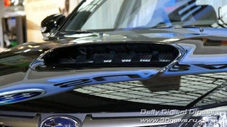 Стенд компании Subaru. Новая Subaru Impreza WRX STI. Фото: 3dnews.ru