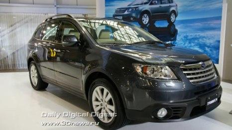 Стенд компании Subaru. Обновленный кроссовер Subaru Tribeca. Фото: 3dnews.ru