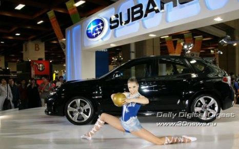Тайбейский Автосалон 2008. Стенд компании Subaru. Фото: 3dnews.ru