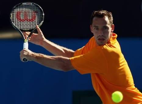Мишель Ллодра (Франция) (Michael Llodra of France) во время открытого чемпионата Австралии по теннису. Фото: Mark Dadswell/Getty Images