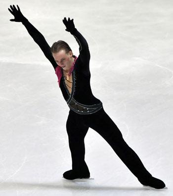 Сергей Воронов (Россия) исполняет произвольную программу. Фото:HRVOJE POLAN/AFP/Getty Images