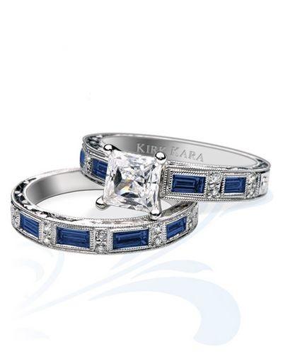 Роскошные свадебные кольца Kirk Kara. Фото с efu.com.cn