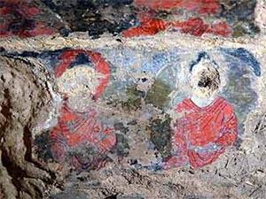 Фрагмент росписи в Бамианской пещере. Фото: National Research Institute for Cultural Properties, Tokyo (Japan)