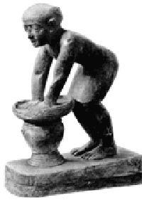 Древнеегипетский пивовар за работой.