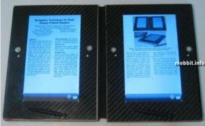Прототип e-book'a с двумя дисплеями. Фото с сайта mobbit.info