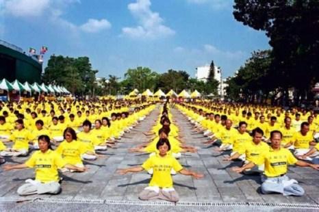 Фалуньгун стал центральной фигурой на празднике физкультуры в тайваньском городе Тайнань