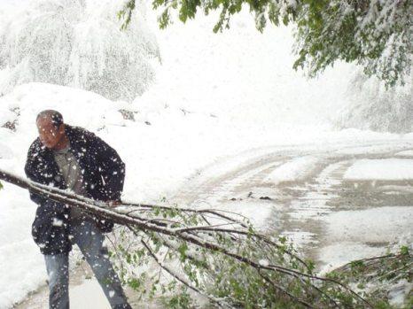 Сильный снегопад прошёл в Синьцзяне. 26 мая 2009 г. Фото с epochtimes.com