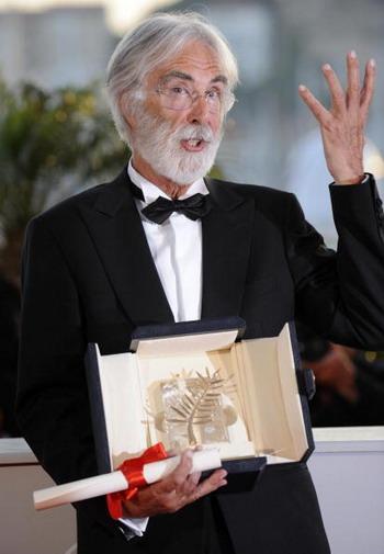 Австрийский режиссер Михаэль Ханеке. Фото: ANNE-CHRISTINE POUJOULAT/AFP/Getty Images