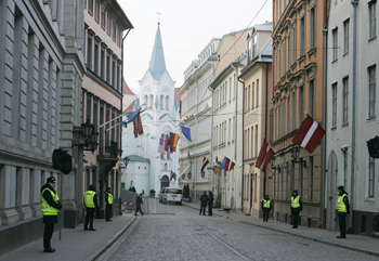 Латвия. Рига. Фото: JANEK SKARZYNSKI/AFP/Getty Images