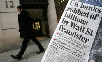 Офис компании Bernard L. Madoff Investment Securities в Лондоне. Фото:  SHAUN CURRY/AFP/Getty Images