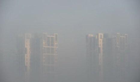 Провинция Хайнань. Густой туман окутал десять китайских провинций. Фото с epochtimes.com