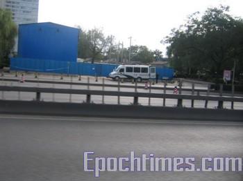 В Пекине перекрыты все главные дороги. Фото: The Epoch Times