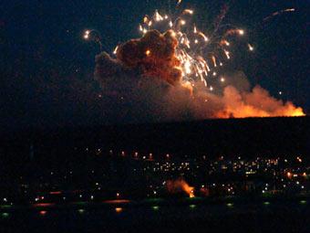 Пожар на военных складах в Ульяновске, имеются человеческие жертвы. Фото Алексея Лапшина с места событий