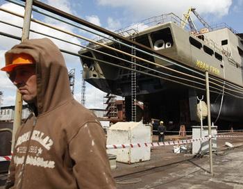 Большой десантный корабль «Иван Грен», построенный по заказу Минобороны РФ на Прибалтийском судостроительном заводе «Янтарь» в Калининграде. Фото РИА Новости