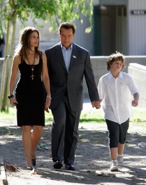 Арнольд Шварценеггер с супругой Марией Шрайвер и сыном Кристофером. 2006 год. Фото: HECTOR MATA/AFP/Getty Images