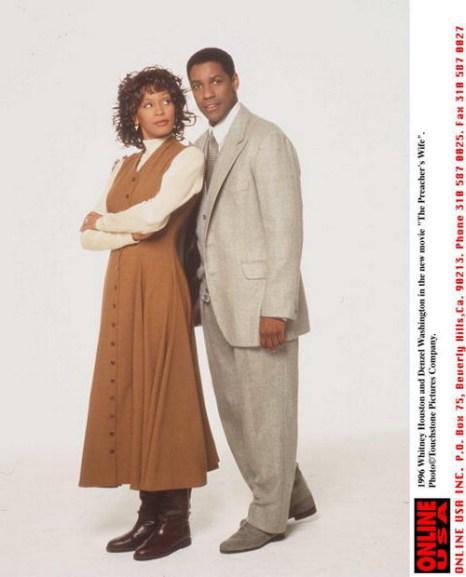 Уитни Хьюстон и Дензел Вашингтон в фильме «Жена священника». 1996 год. Фото: Getty Images