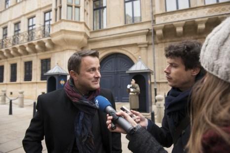 Люксембург, представитель либеральной партии Хавьер Беттель (L). Фото: ANTHONY DEHEZ/AFP/Getty Images