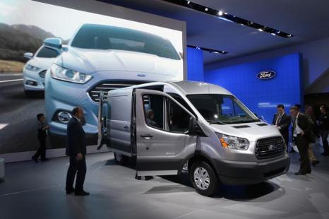 Ford Transit Van 2014 на пресс-показе Североамериканского автосалона в Детройте, 15 января 2013 года. Фото: Scott Olson / Getty Images