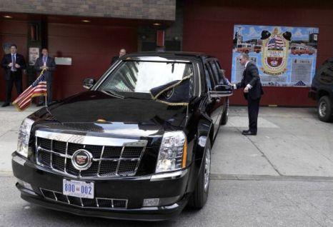 Лимузин президента США Барака Обамы. Фото:  JEWEL SAMAD/AFP/Getty Images