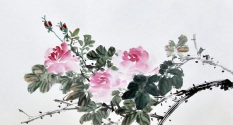 Роза. Художник Жу И