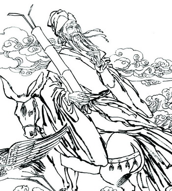Мифы Древнего Китая:Один из восьми бессмертных. Фото с pic.nipic.com