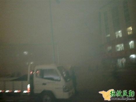 Китай. Песчаная буря в уезде Минчин провинции Ганьсу. 24 апреля 2010 год. Фото: minqin.net