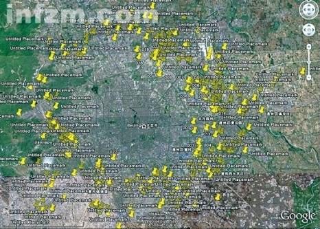 Ван Цюлян, народный активист-эколог и фотограф, с 2008 по 2010 год на мотоцикле объездил более 400 свалок вокруг Пекина и отметил их месторасположение на карте от Google Earth жёлтыми значками. По этим отметкам можно увидеть, что Пекин плотно окружён мусорными свалками.