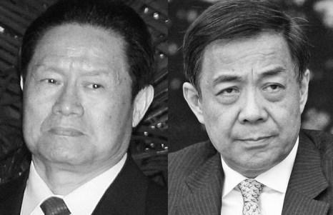 Чжоу Юнкан (слева), секретарь Политико-юридической комиссии компартии Китая, 2007 год. Бо Силай (справа) в марте 2011 года. Фото: слева направо Teh Eng Koon/AFP/Getty Images, Feng Li/Getty Images
