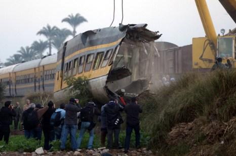 В Египте в железнодорожной катастрофе погибли 19 человек. Фото: KHALED DESOUKI/AFP/Getty Images